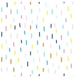 Seamless cute and funky pattern of dashes vector