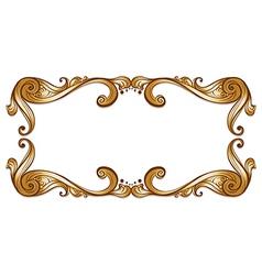 A bold brown border vector image