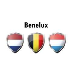 A set of benelux countries flag icon vector