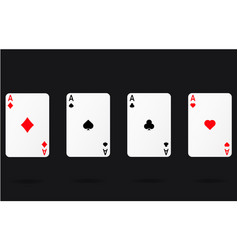 Ace gamble playing casino cards vector