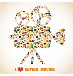 Action movie camera vector