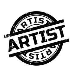 Artist rubber stamp vector