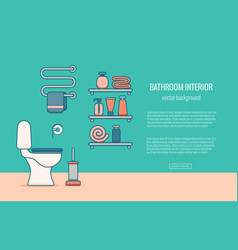 Bath equipment colorful concept vector