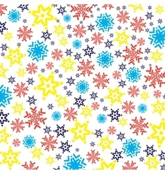Bright colorful background with snowflakes vector