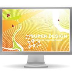 Bright summer computer screen saver vector