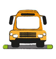 Bus draw vector