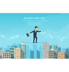 Businessman or man in crisis situation vector image vector image