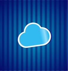 Cloud computing sticker concept vector image vector image