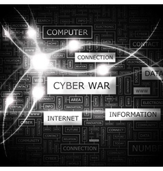Cyber war vector