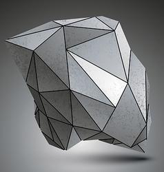 Deformed sharp metallic stone shaped object vector