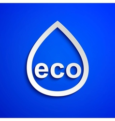 Eco symbol Design element Eps10 vector image