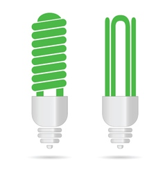 energy saving green light bulbs vector image