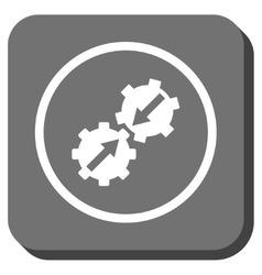 Gear integration rounded square icon vector