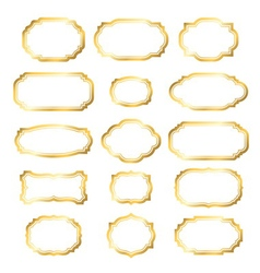 Gold frame simple golden style vector