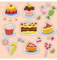 holiday sweets 2 stickers v vector image vector image