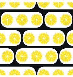 Lemons slices with black modern ornament vector