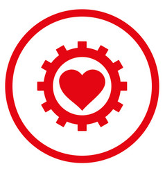 love heart options gear rounded icon vector image
