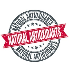 Natural antioxidants red round grunge vintage vector
