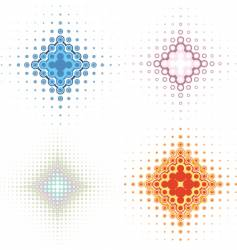 retro background icons vector image vector image