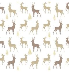 seamless pattern deer vector image