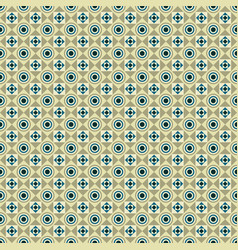 Seamless pattern with circles squares and dots vector