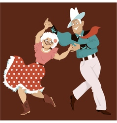 Square dance vector