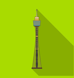 Sydney tower icon in flat style isolated on white vector