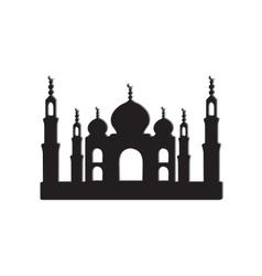 Taj mahal temple vector