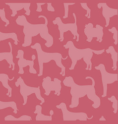 Unusual seamless pattern with dog silhouettes vector
