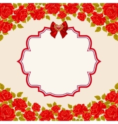 Vintage background with roses Valentines day vector image vector image