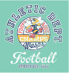 Wasps american football team athletic department vector
