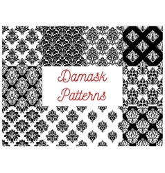 Damask patterns ornamental decoration vector