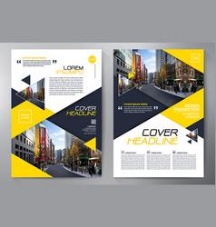 business brochure flyer design a4 template vector image