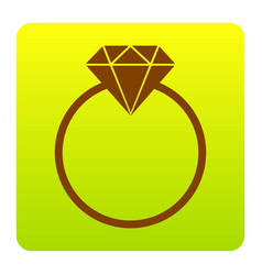 Diamond sign   brown icon at vector