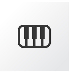 Piano icon symbol premium quality isolated octave vector