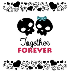 Together forever valentines card vector