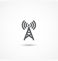 Antenna icon vector