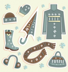 Winter fashion vector