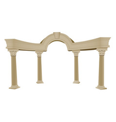 3d greek arch and column vector image