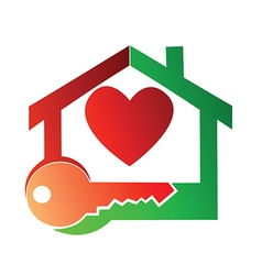 House and key vector image