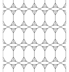 Seamless geometric pattern black and white vector