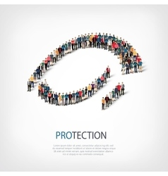 Protection people sign 3d vector