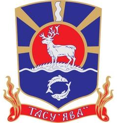 Tazovsky Rayon vector image