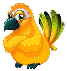An angry bird vector