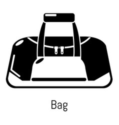 bag sport icon simple black style vector image
