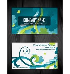 beautiful creative business card design vector image vector image