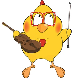 Chicken the violinist vector image vector image
