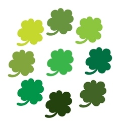 Clover leaves colorfull icon set vector image