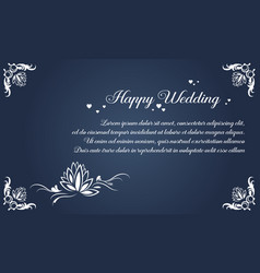 Collection stock simple invitation for wedding vector