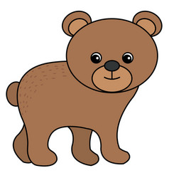 Cute and tender bear vector